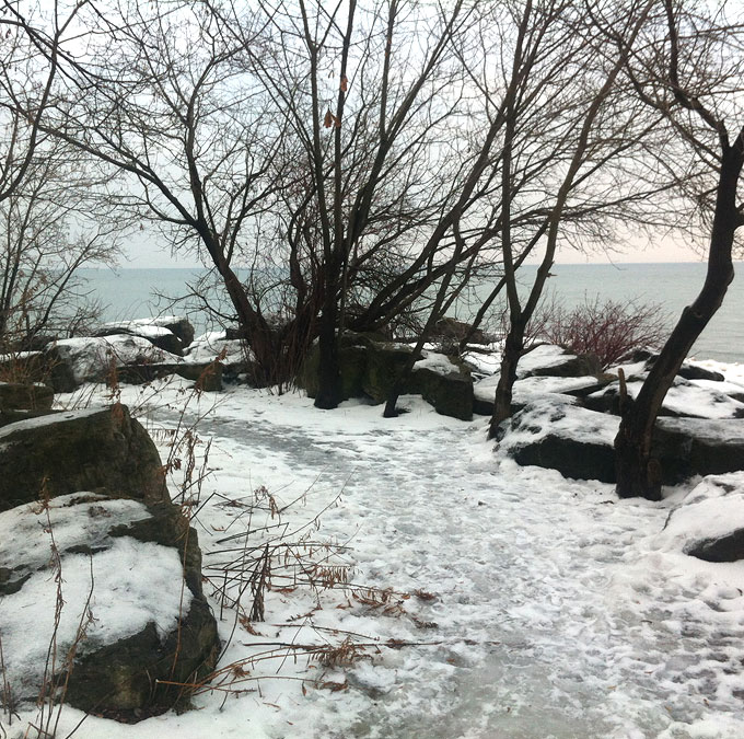 Icy Fitness Trail. Beaches, Toronto
