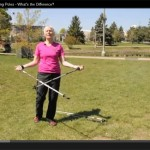 Linda Lemke discussing Nordic vs Trekking poles