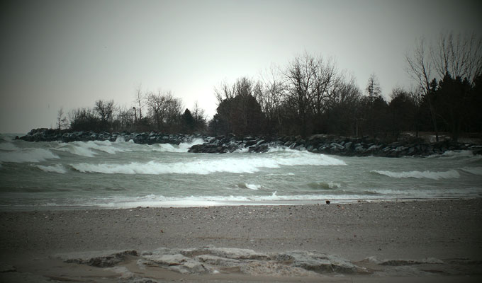Woodbine Beach, rough weather