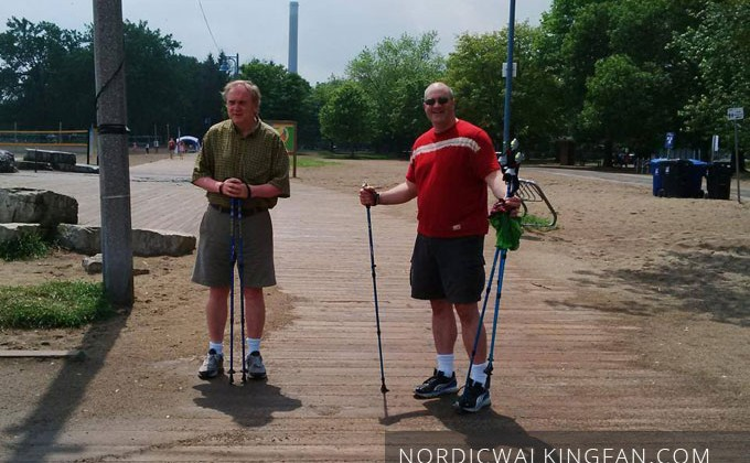 Introducing a friend to Nordic Walking